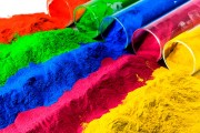 colorful paint pigments